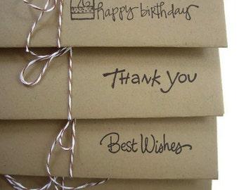 4 money envelopes, tip envelope, handmade envelope set,happy birthday envelope,thank you envelope,congratulations envelope,envelopes