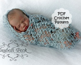 Crochet Peanut Hooded Cocoon for Newborn Photography -- PDF Pattern INSTANT DOWNLOAD