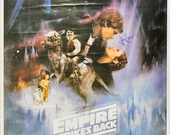 Harrison Ford Star Autographed Signed 26x40 Star Wars The Empire Strikes Back Movie Poster BECKETT