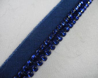 Blue and Blue Beads  Pillow Trim Piping Cord Gimp