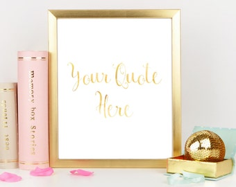 Personalized Gold Foil Print, Custom Foil Print, Rose Gold Decor, Rose Gold Nursery, Custom Nursery Art, Your Quote Here, Personalised Mum