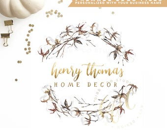 Affordable Customized Logo - photography logo - event logo - interior design logo - cotton logo - watercolor - Marketing - BL219F