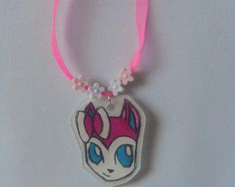 child necklace - pokecat - sylveon-cartoon