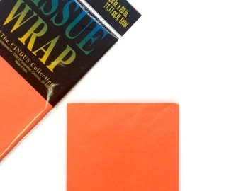 Neon Orange Specialty Tissue Paper - 4 Sheets - Gift Wrap - Craft and Party Supplies