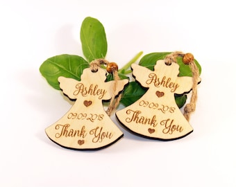 Rustic Baptism favors, Christening favors, Baptism wood angel, Baptism custom favors, Baptism thank you gift, First Communion Favor