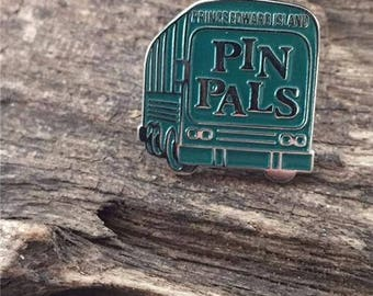 Vintage Prince Edward Island Pin Pals Bus Lapel Pin