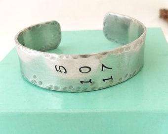 Sobriety Bracelet, AA Symbol Bracelet, Recovery Bracelet, Sober Date Bracelet, AA Sponsor Gift, One Day at a Time Bracelet, NA Recovery Gift