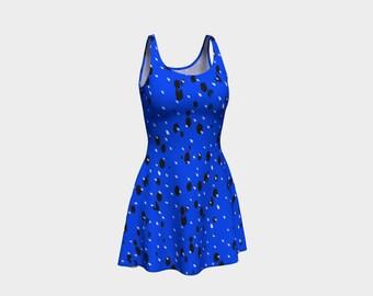 Blue Splatter Swatches Dress