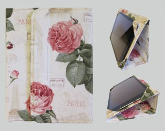 iPad Cover Hardcover, iPad Case, iPad Mini Cover, iPad Mini Case, iPad Air Case, iPad Pro Case, iPad 2, iPad 3, iPad 4 Paris Pink Rose