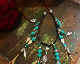 Boho braided necklace