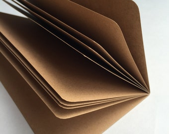 KRAFT PAPER Traveler's Notebook Insert   - Choice of 8 sizes.