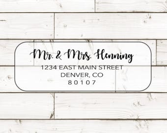 Custom individual Guest Address Labels