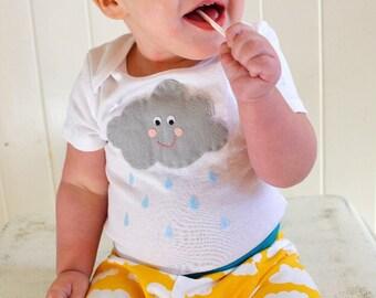 Cloud Baby onesie or Toddler shirt - Happy Raincloud