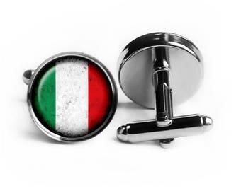 Italy Italian Italia Flag Cufflinks