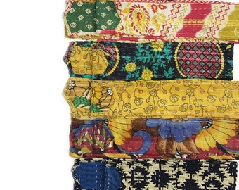 Kantha Head wrap, baby head wrap, kids head wrap, kids turban, baby turban, baby bow headband, hippie kids baby headband