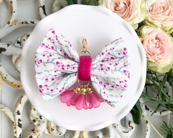 Dainty Spring Blossom Bow in Pink Fields