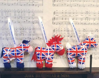 Liberation Day Decorations! Little Guernsey Donkeys, Guernsey Cows and Guernsey Goats!