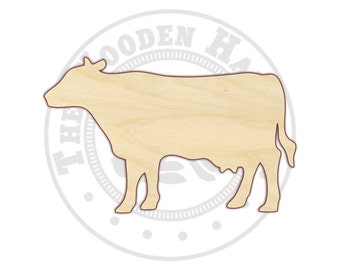Cow - Cow Decor - Cow Shape - Unfinished Wood Shape - Wooden Cow - Wood Craft Shapes - 170426