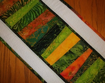 Tropical Batik Quilted Table Runner