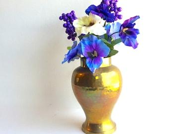 VIntage Brass Urn Style Vase, Hollywood Regency Style Vase