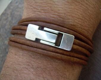 Mens Bracelet, Leather Bracelet, Wrap Bracelet, Womens Bracelet, Mens Jewelry, Magnetic Clasp, Fathers Day, Groom, Groomsmen, Gift for Him