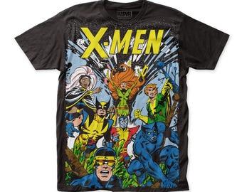 X-Men The Gang Soft 30/1 Men's Cotton Subway Tee (SUBXM02) Black