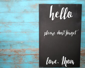 Chalkboard, Memo Board, Office Decor, Mom Gift, Office Sign, Reminder Sign, Mom Memo, Home Organization, Reminder Chalkboard, Kids Memo, Mom
