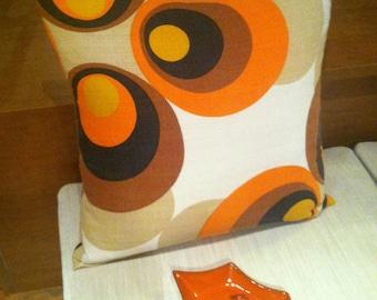 SOLD Vintage Mod 1960's Op Art Fabric Accent Pillow