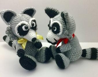 RACCOON CROCHET PATTERN/ Amigurumi Raccoon/ Stuffed Raccoon/ Crochet Animal/ Crochet Trash Panda pattern/ Raccoon pattern/ Trash Panda toy//