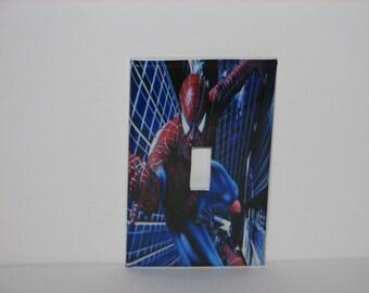 Spiderman Super Hero Single switch plate light cover