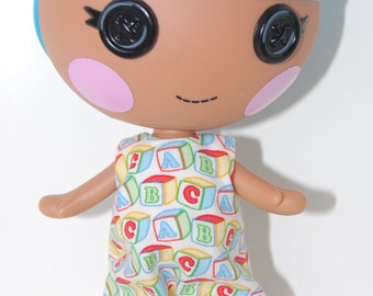 "Lalaloopsy Littles 7"" doll clothes - ABC print Romper - tkct027"