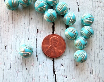Vintage Turquoise and Silver Beads