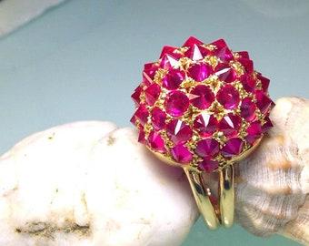 Gold ring Bombe style ( France latest 60 )
