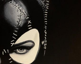 "Catwoman - Michelle Pfeiffer - Art Print Reproduction 10"" x 12"""