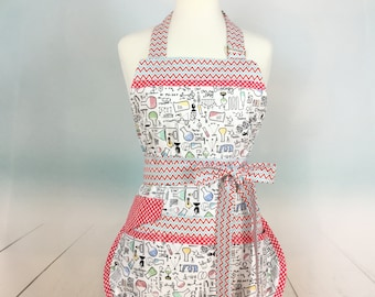 Chemistry Teacher Sassy Vendor Apron,  Full Apron with Bib, 6/8 pockets, also great for Sewing, Farmers Market, Gardening, Cleaning