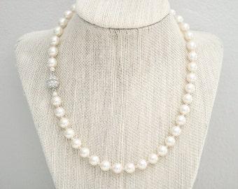 Bridal Pearl Necklace, Bridal Necklace, Pearl Wedding Necklace, Pearl Wedding Jewelry