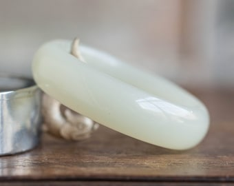 Antique White Hetian Nephrite Bangle, Antique Jade Bangle, Hetian Nephrite Bangle, White Nephrite Jade Bangle