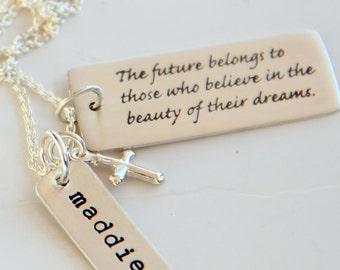 Religious Jewelry, Religious Graduation Gift, Cross Necklace, Religious Grad Gift, Cross, Faith. Confirmation,