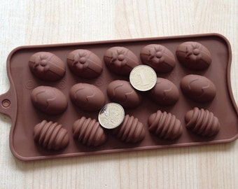 15-Easter Egg soap mold jewelry mould Silicone Mold polymer clay mold Cake Mold Chocolate mold Resin Mold Biscuit Mold sugar mold candy mold
