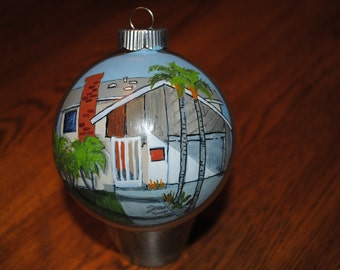 New Custom Home Hand Painted Ornament - SOLD just for DISPLAY