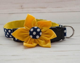 "Dog Flower Collar ""Maize Daisy"""
