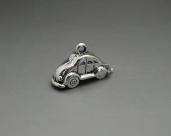 set of 3 Silver Ladybug (A01) car charm