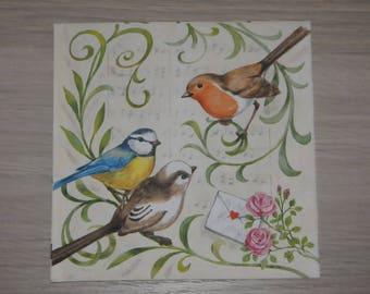"theme napkin ""Bird song"" animals"