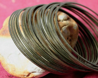 Stacking Bangle, Stackable Bangle, Antique Brass Bangle, Bangle Set, 2 pcs (item ID FA00022AB)