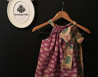 Pillowcase DRESS or TOP - Chandeliers and Chairs - Made in Junior, Petite, Standard and Plus Size - Boutique Mia