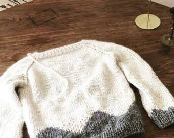 Sweater sweater 100% baby alpaca wool