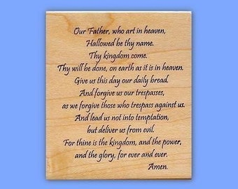 Lord's Prayer mounted rubber stamp, religious, Christian bible verse, bible journaling, Sweet Grass Stamps No.16