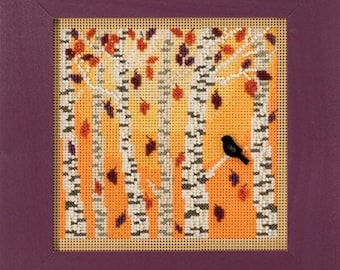 Mill Hill Buttons & Beads Autumn Series, Autumn Woods MH14-1823 Beaded Counted Cross Stitch Kit