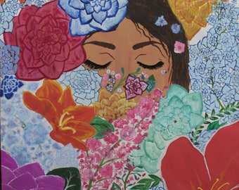 Floral painting - hidden