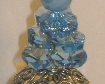 Swarovski Aqua Marine Prism Suncatcher,prism sun catcher,crystal suncatcher,hanging suncatcher,suncatcher,prism catcher,rainbow catcher